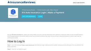 IFA Auto Insurance Login   Make a Payment - Insurance Reviews