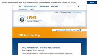 Membership and Login - International Federation for Home Economics