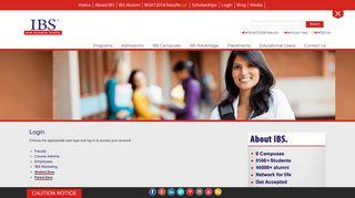 Login - ICFAI Business School