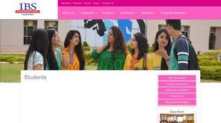 Students   IBS Hyderabad