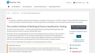 The London Institute of Banking & Finance Qualification :: Pearson VUE