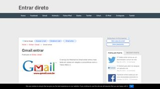 Gmail entrar – Faça login na sua conta agora! - Entrar direto