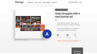 Help iGrapple with a new banner ad   Banner ad contest - 99Designs