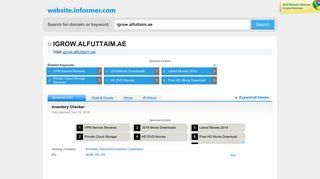 igrow.alfuttaim.ae at WI. Inventory Checker - Website Informer