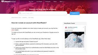 How do I create an account with iHeartRadio? – iHeartRadio Help