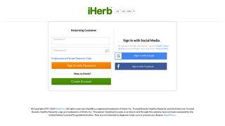 iHerb.com - Login