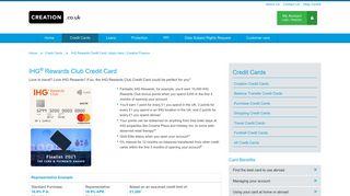 IHG Rewards Credit Card   Apply here   Creation Finance