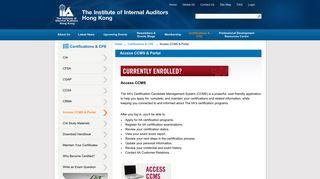 Access CCMS & Portal