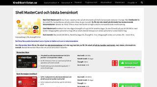 Shell MasterCard och bästa bensinkort - Kreditkort