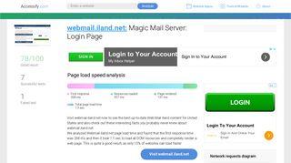 Access webmail.iland.net. Magic Mail Server: Login Page