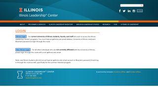 Login   Illinois Leadership® Center