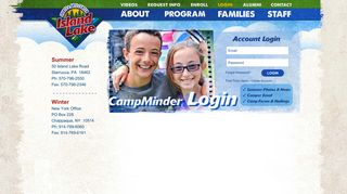 Log In to Your CampInTouch Account   Island Lake Camp: PA Summer ...