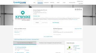 Krsnaa Diagnostics Pvt Ltd-Sr. Executive HR in Krsnaa Diagnostics ...