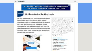Illini Bank Online Banking Login - CC Bank