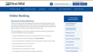 Online Banking - First Mid Bank & Trust