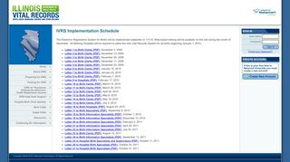 Illinois Vital Records System (IVRS)