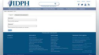 Log in | IDPH - Illinois Department of Public Health - Illinois.gov