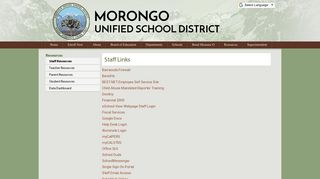 Staff Resources - Morongo Unified School District
