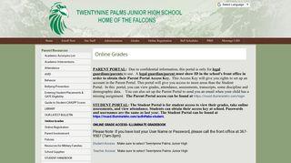 Online Grades - Morongo Unified School District