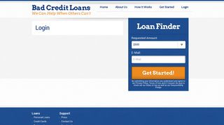 Login - Bad Credit Loans