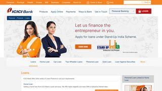 Loan | ICICI Bank Loans - Home Loans, Personal Loans, Car Loans ...