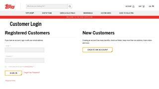 Customer Login - Topps