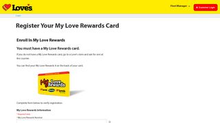 Register for My Love Rewards - Love's Travel Stops