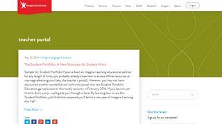 teacher portal - Imagine Learning