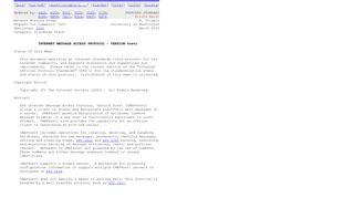 RFC 3501 - INTERNET MESSAGE ACCESS PROTOCOL - VERSION ...