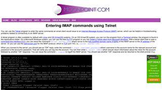 Entering IMAP commands using Telnet - MoonPoint Support
