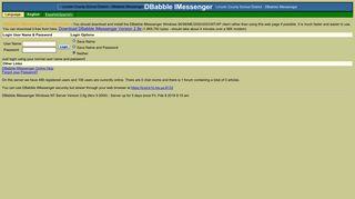 DBabble IMessenger login