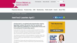 ImmTrac2 Launches April 3 - Texas Medical Association