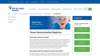 How To Register Your Child For ImmTrac - CHI St. Luke's Health