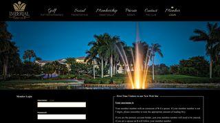 Member Login - Imperial Golf Club