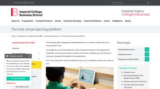 The Hub virtual learning platform   Imperial College Business School