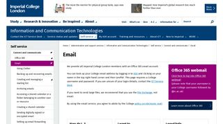 Email | Administration and support services | Imperial College London