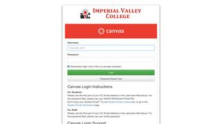 Imperial Valley College Login System