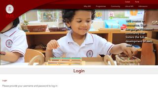 Login - The International Montessori School