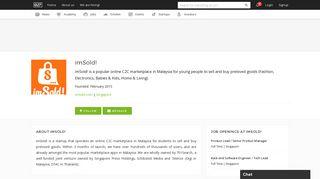 imSold! | e27 Startup