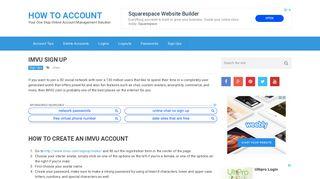 IMVU Sign Up: How to Create an IMVU Account | How To Account