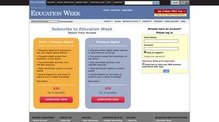 Education Week: Login