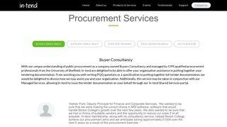 Procurement Services - In-tend Ltd - Procurement Solutions