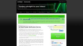 In-Tend Ltd - Tender Notification Service, Supplier Portfolio