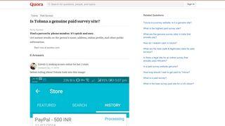 Is Toluna a genuine paid survey site? - Quora