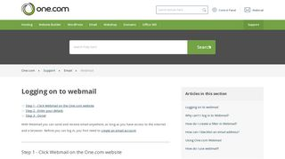 Logging on to webmail – Support   One.com