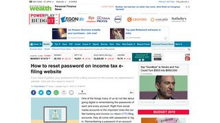 Income Tax Password Reset   ITR Filing: How to reset password on ...