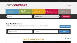 Independence Australia - Care Careers