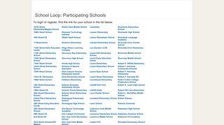 School Loop: Participating Schools