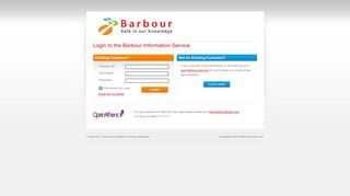 Customer Login Page