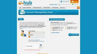 AMP login page - Web Hosting Hub